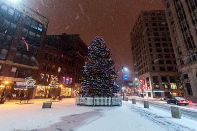December_2012_Portland_Maine_DSC2217 Monument Square Night Christmas Tree 1