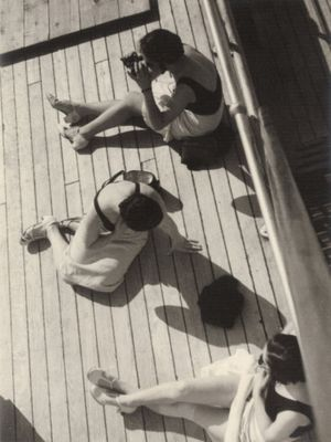 Vincenzo-balocchi-three-women-sunbathing-on-the-deck-of-a-ship